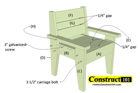 Patio Chair Plans PDF