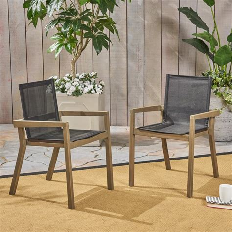 Patio Dining Chairs Black