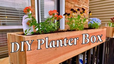 Patio Planter Box Plans Youtube
