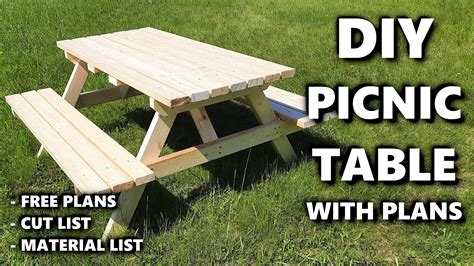 Patio Table Plans And Material List