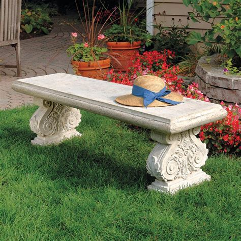 Patio-Stone-Bench-Plans