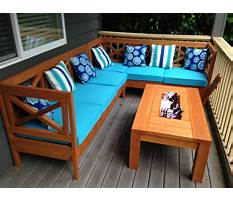 Best Patio furniture building plans