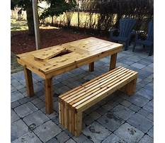 Best Patio table wood bench designs