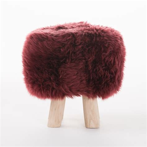 Patmos Sheep Hide Accent Stool