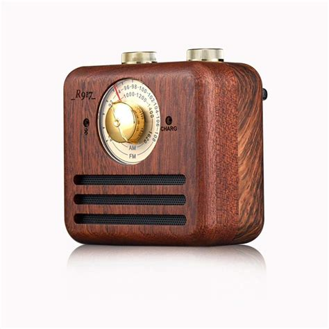 Pawaca Handmade Walnut Wood Portable Radio Sound System with Radio FM/AM, Retro Classic Style Wooden Speaker Home Audio with Super Bass and Subwoofer