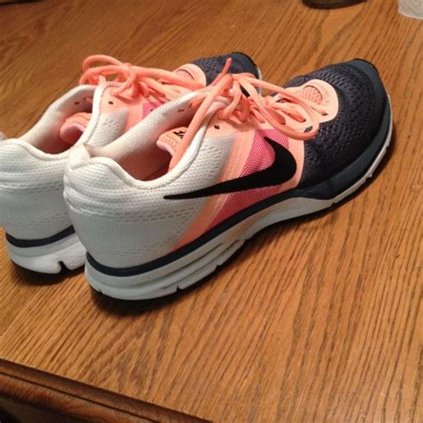Peach And Gray Nike Sneakers