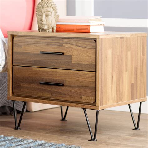 Peachey Bedside 2 Drawer Nightstand