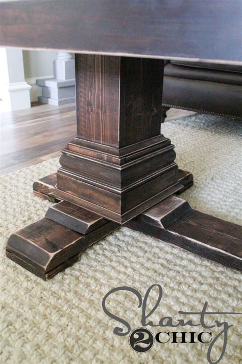 Pedestal Beam Coffee Table Diy