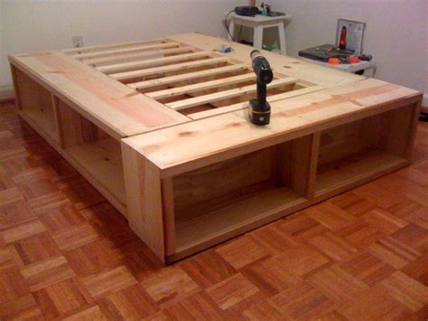 Pedestal-Bed-With-Storage-Plans