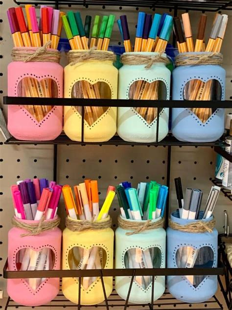 Pens Storage Diy With Jars