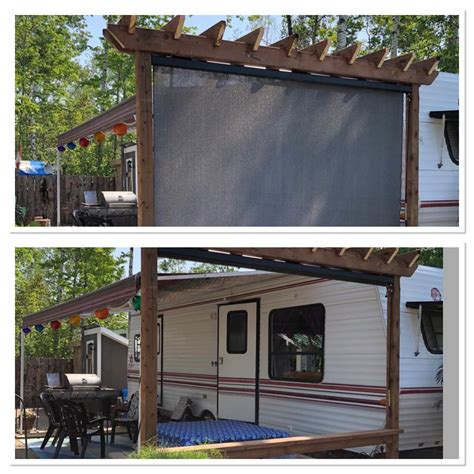 Pergola Diy Pull Down Shade