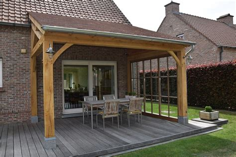 Pergola design attached to house Image