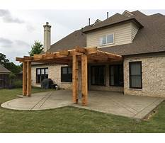 Best Pergola design attached to house