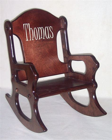 Personalized Wooden Rocking Chairs For Toddlers