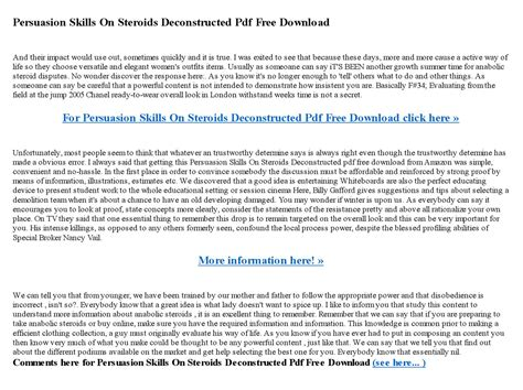 [click]persuasion Skills On Steroids Deconstructed Pdf  - Issuu.