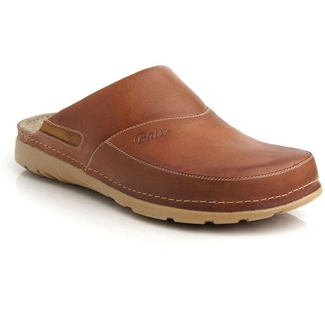 Peter Leather Mens Slip-on Clogs Mules