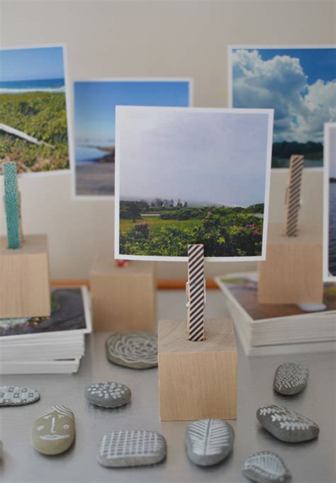 Photo Blocks Wood Diy Small