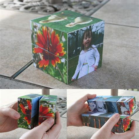 Photo Frame Cube Diy Puzzle