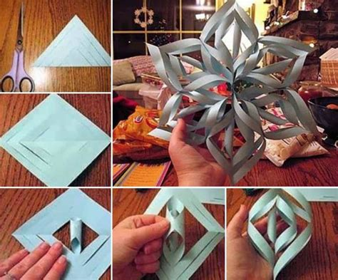 Photo Frame Diy Paper Snowflakes