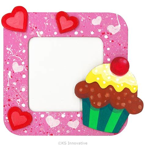 Photo Frame Wood Diy Cupcake