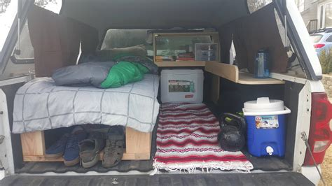 Pickup Bed Camper Diy Storage