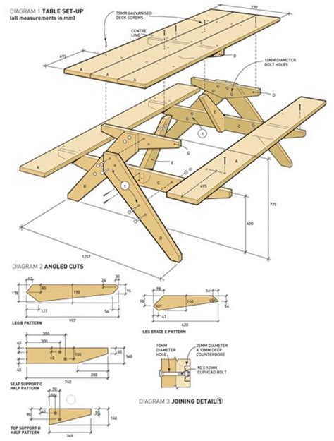 Picnic Table Diagram