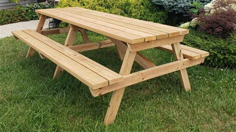 Picnic Table Plans 8 Foot