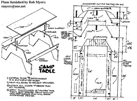 Picnic Table Plans Free Plywood Lays Flat