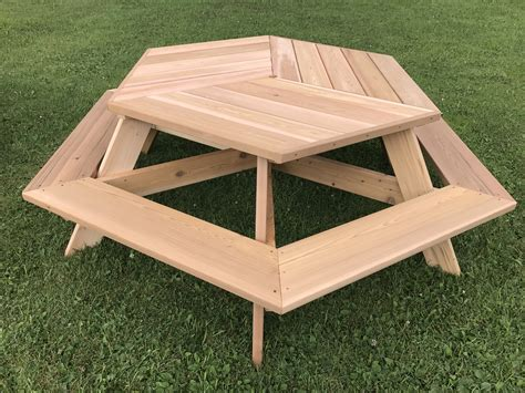 Picnic Table Plans Hexagon