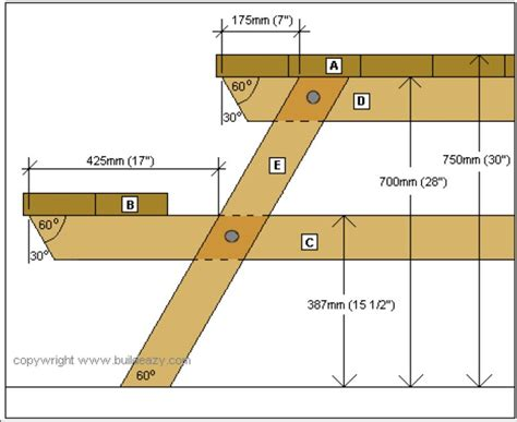 Picnic Table Plans Metric