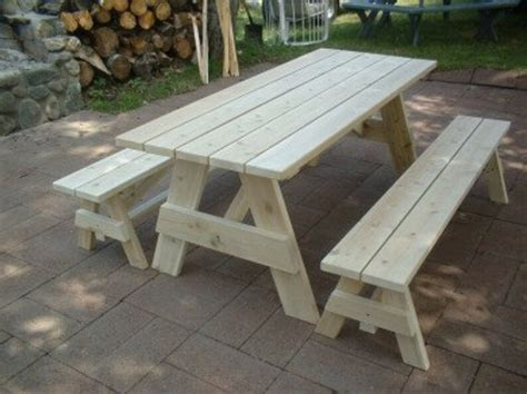 Picnic Table Plans Separate Benches 6 Ft