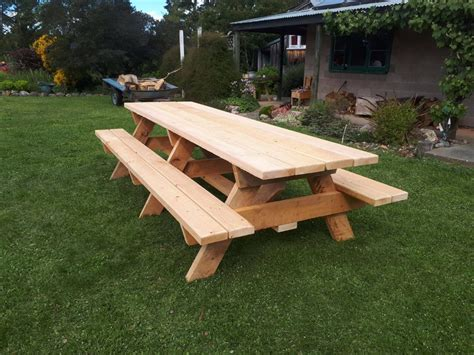 Picnic Table With Backrest Plans For Houses