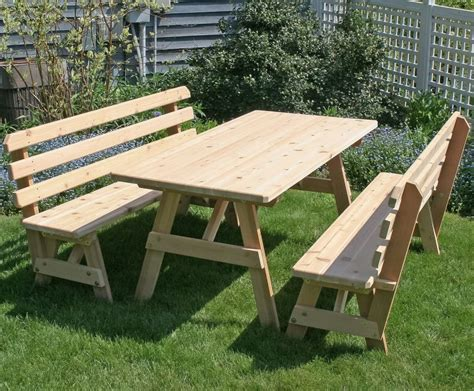 Picnic Table With Backrest Plans For Retirement