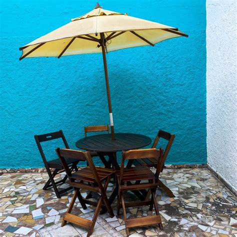 Picnic Table With Umbrella Diy Ufo