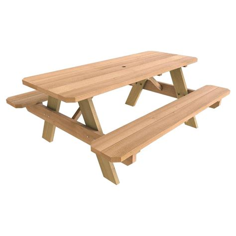Picnic Table Wood Home Depot