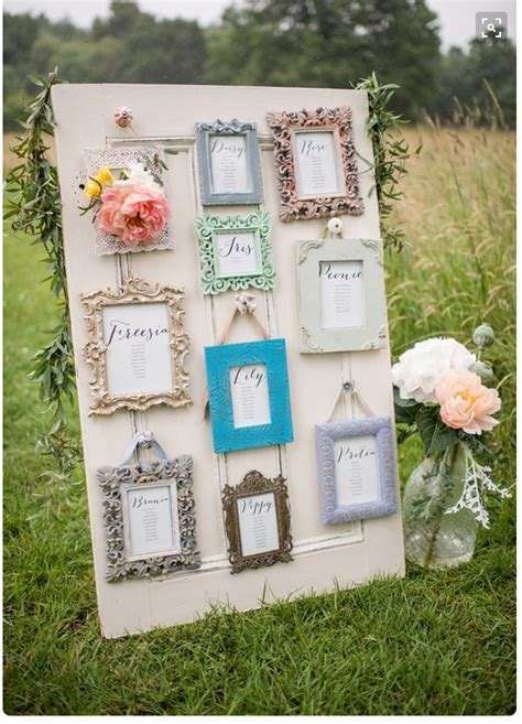 Picture Frame For Wedding Table Plan