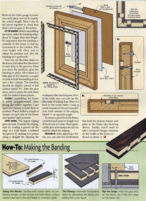Picture Frame Plans Woodworking
