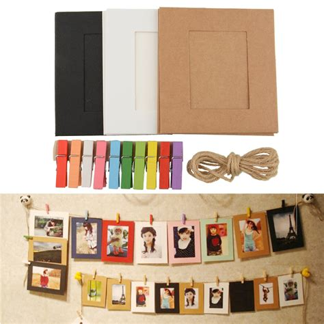 Picture Frame With Clips Diy