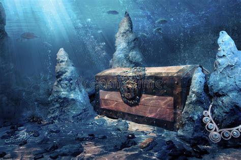 Pictures Of A Treasure Chest Underwater