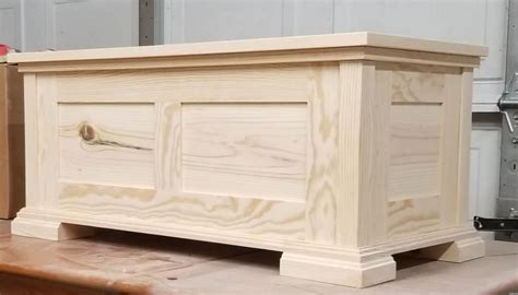 Pine Hope Chest Woodworking Plans