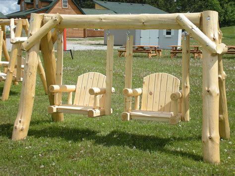 Pine-Log-Swing-Set-Plans