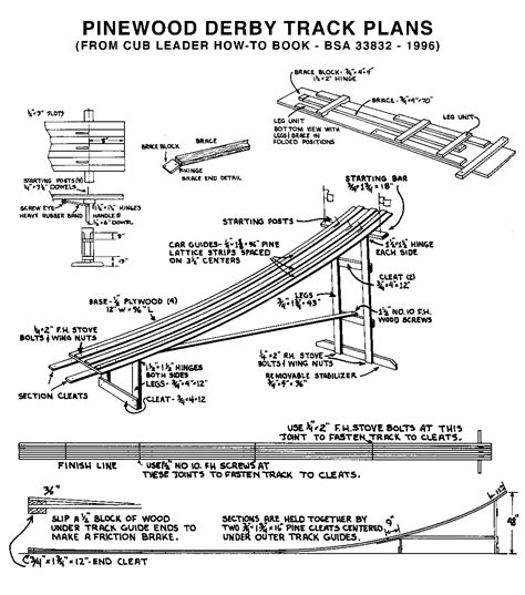 Pinewood-Derby-Race-Track-Plans