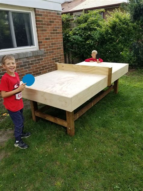 Ping Pong Table Outdoor Diy Fire