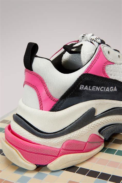 Pink Balenciaga Low Sneakers