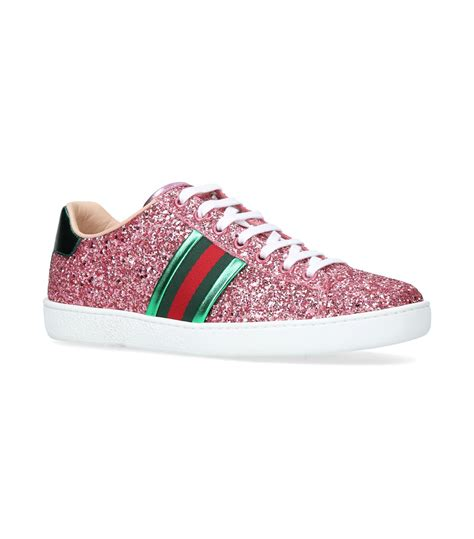 Pink Glitter Gucci Sneakers