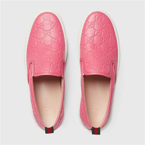 Pink Gucci Slip On Sneakers