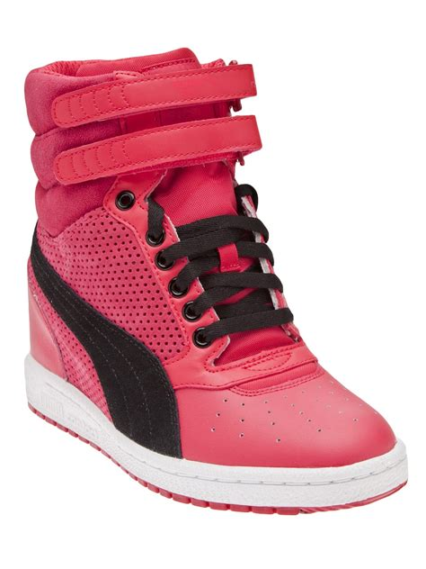 Pink Puma High Top Sneakers