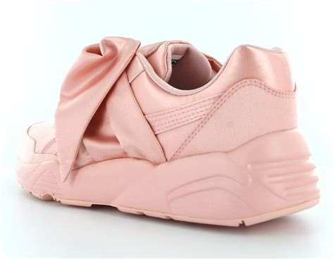 Pink Puma Sneakers With Bow
