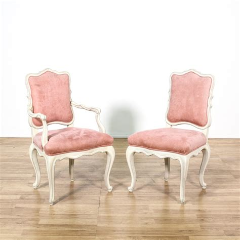 Pink Upholstered Dining Chair