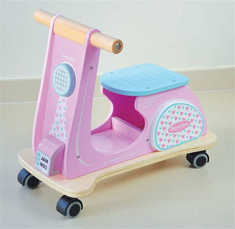 Pink Wood Ride on Toy